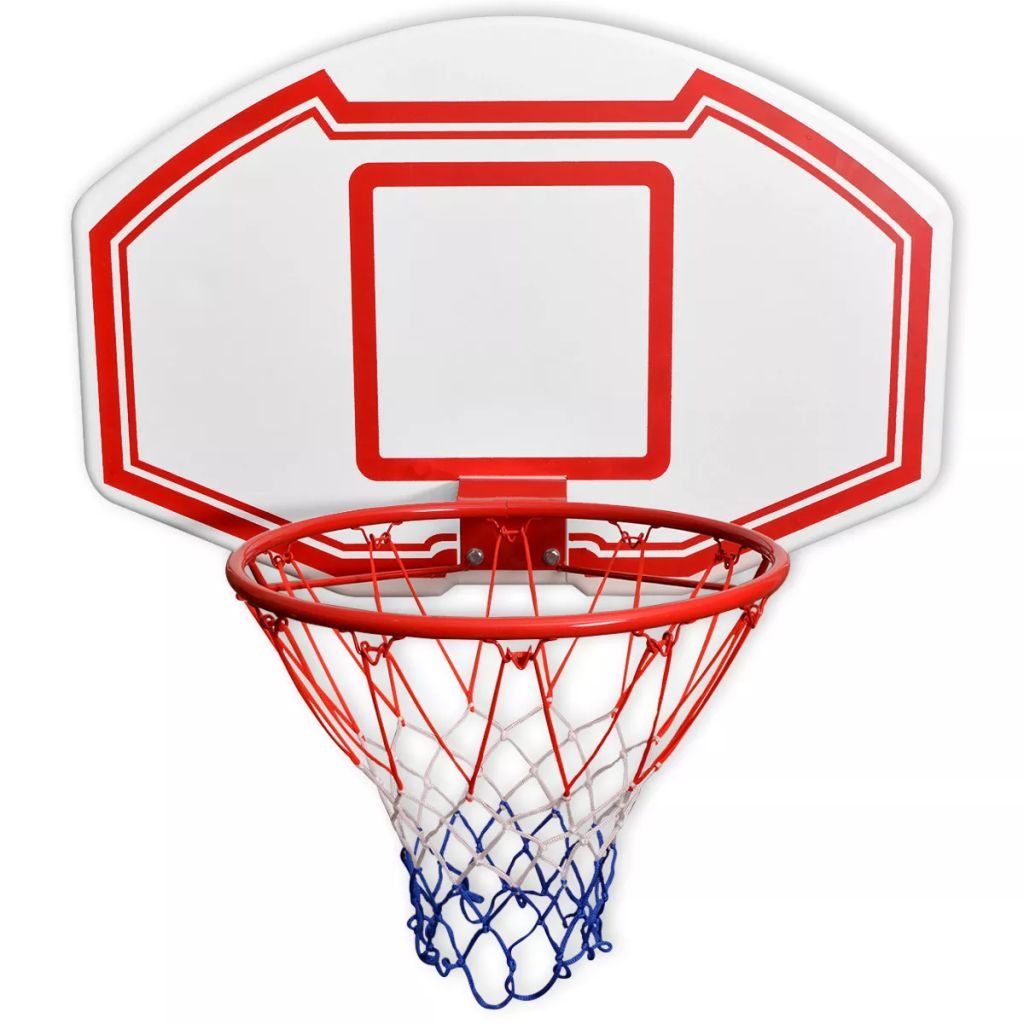 Three Piece Wall Mounted Basketball Backboard Set 90x60 cm