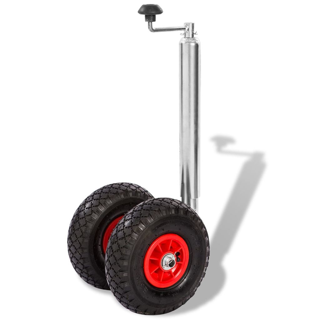 Trailer Jockey Wheel with 2 Pneumatic Tyres 200 kg