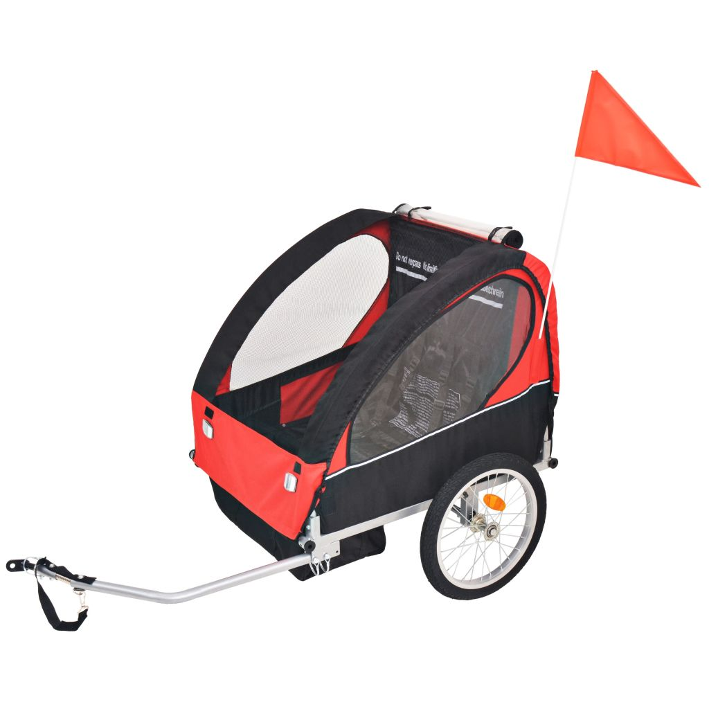 Kids' Bicycle Trailer Red and Black 30 kg