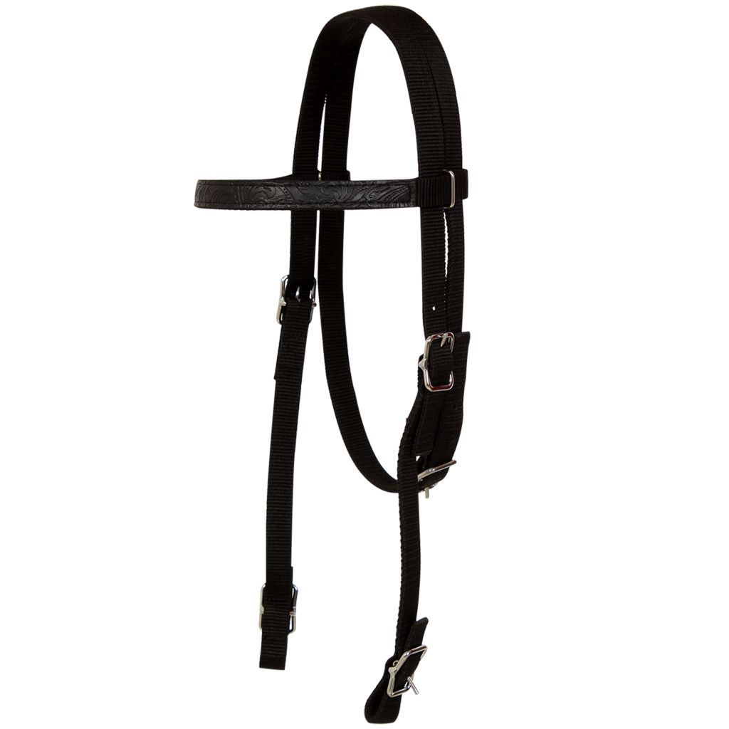 "Western Saddle, Headstall&Breast Collar Real Leather 16"" Black"