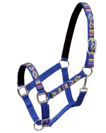 Head Collars 2 pcs for Horse Nylon Size Pony Blue