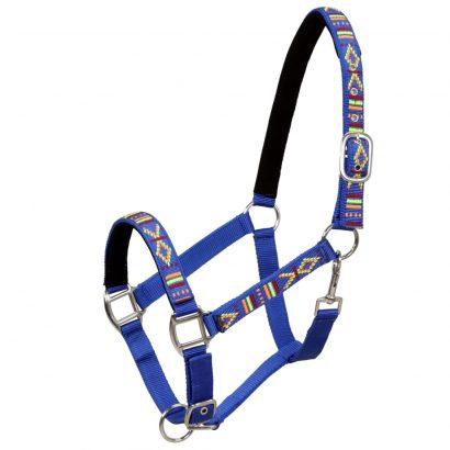 Head Collars 2 pcs for Horse Nylon Size Full Blue