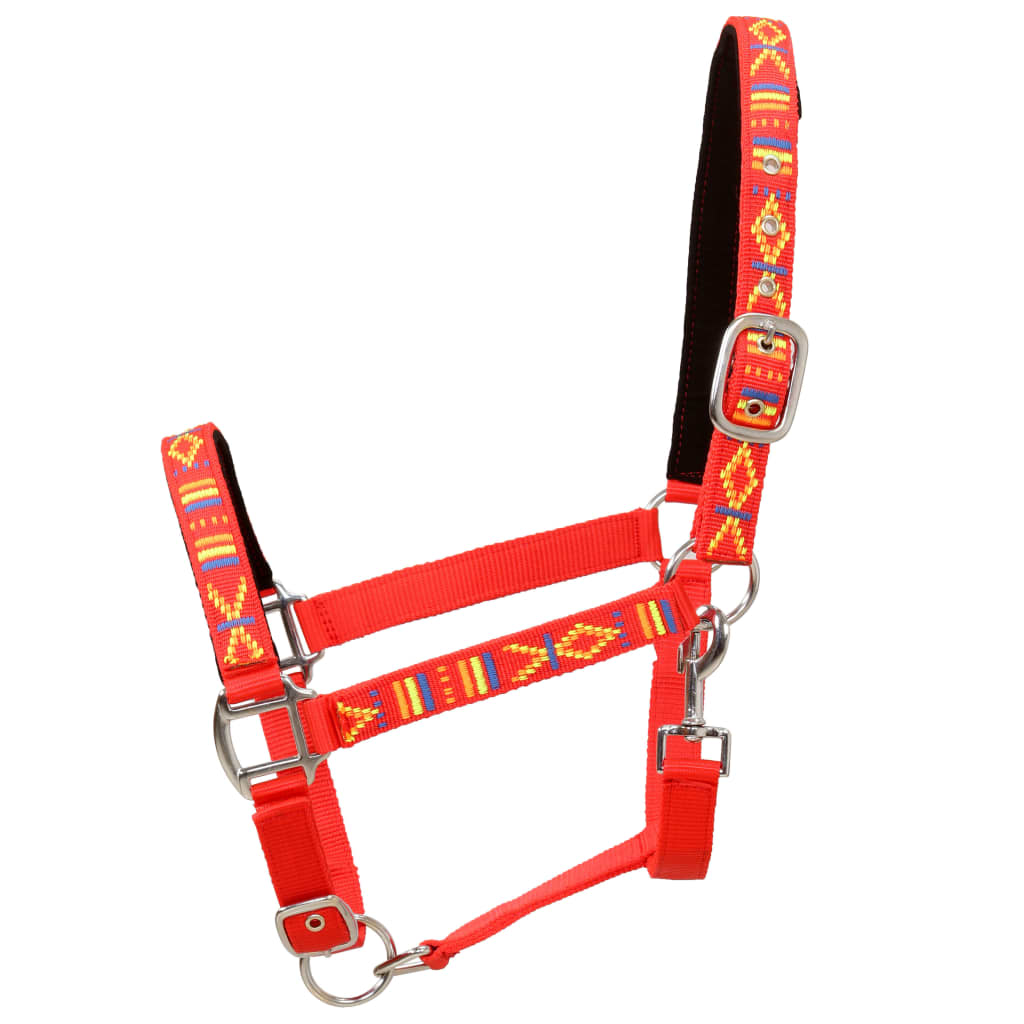 Head Collars 2 pcs for Horse Nylon Size Pony Red
