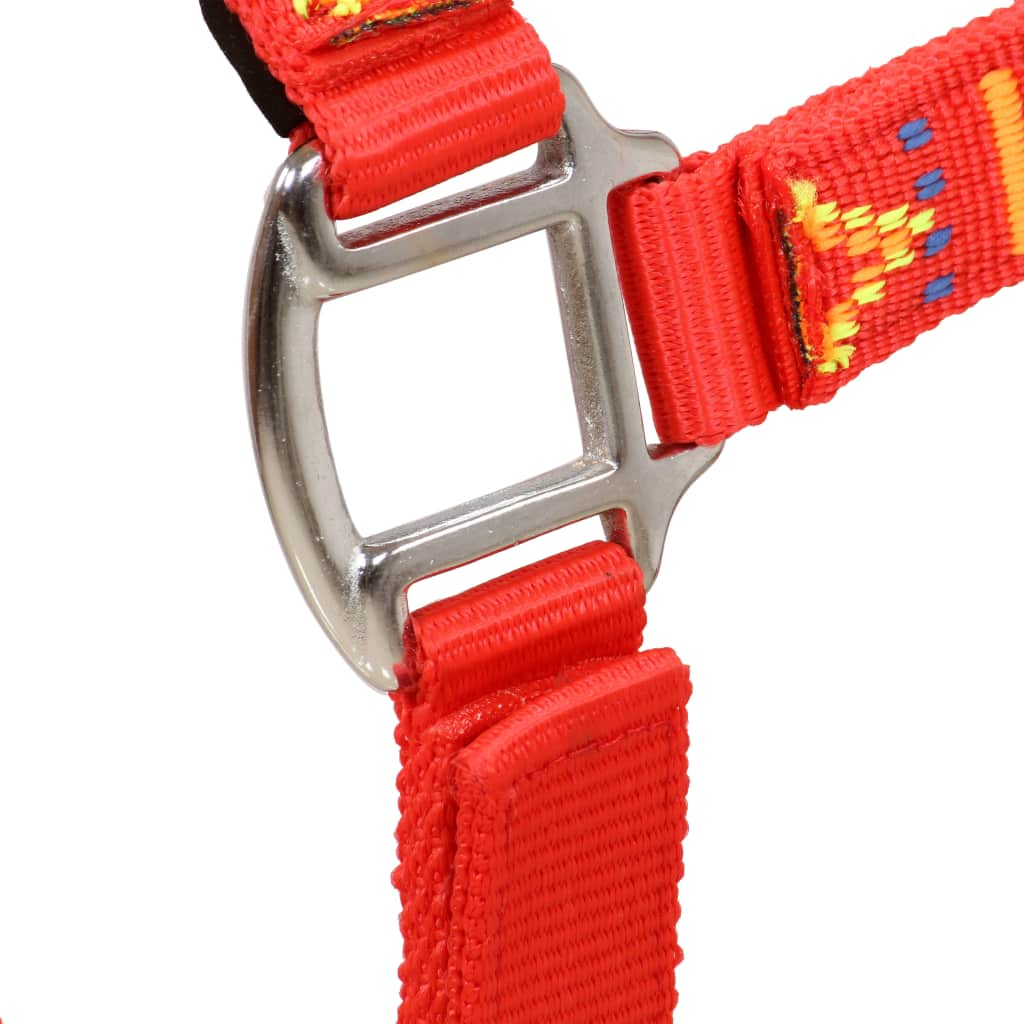 Head Collars 2 pcs for Horse Nylon Size Full Red