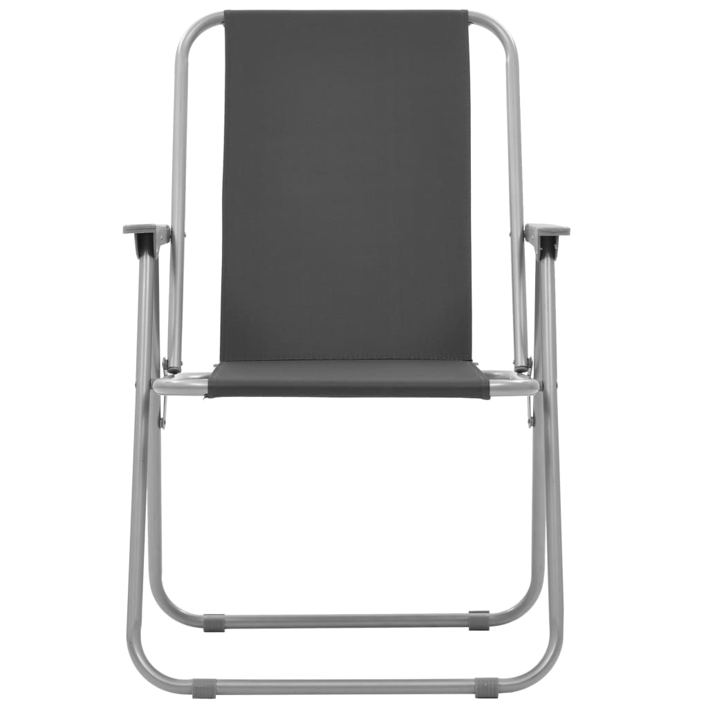 Folding Camping Chairs 2 pcs 52x59x80 cm Grey