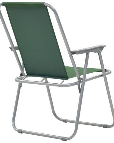 Folding Camping Chairs 2 pcs 52x59x80 cm Green