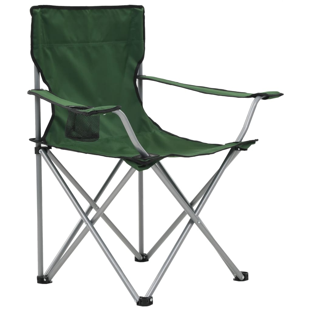 Camping Table and Chair Set 3 Pieces Green