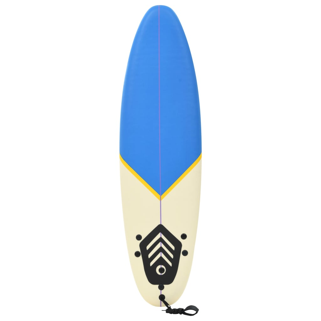 Surfboard 170 cm Blue and Cream