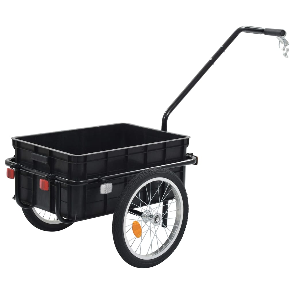 Bike Cargo Trailer/Hand Wagon 155x61x83 cm Steel Black