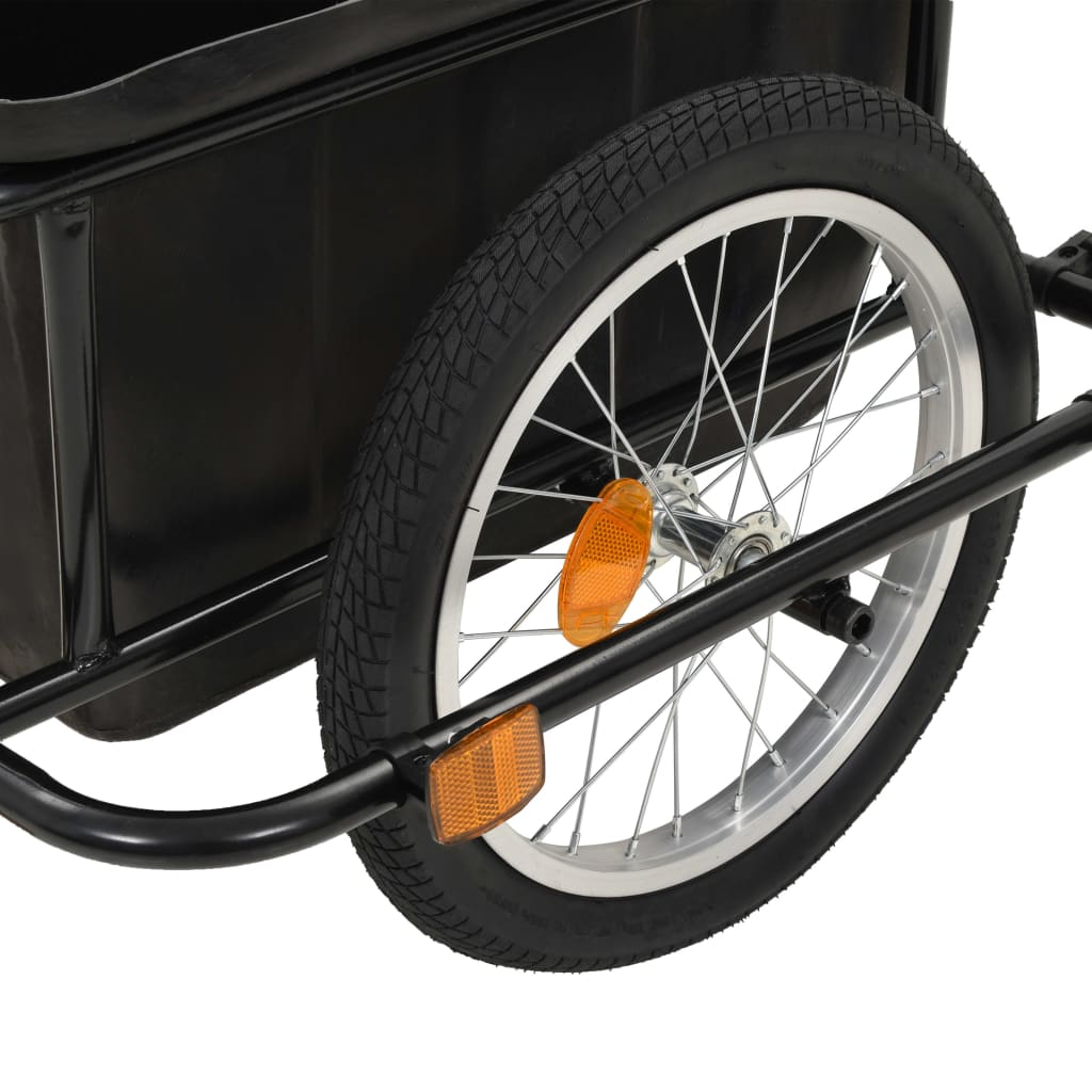 Bike Cargo Trailer Black 50 L