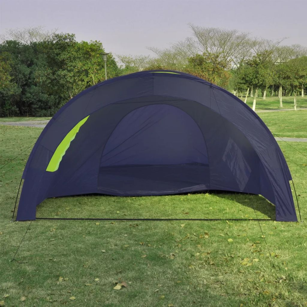 Camping Tent Fabric 6 Persons Blue and Green