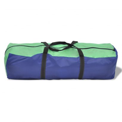 Camping Tent 6 Persons Navy Blue/Green