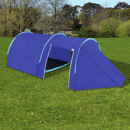 Camping Tent 4 Persons Navy Blue/Light Blue