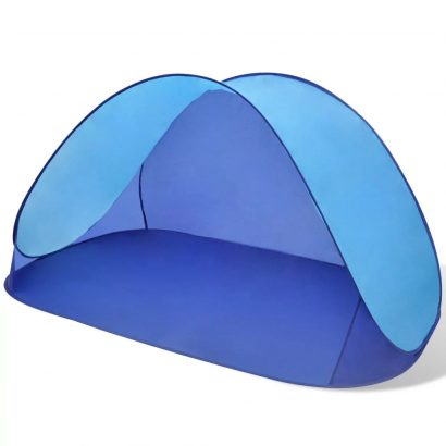 Beach Tent Outdoor Foldable Water Proof Sun Shade Light Blue