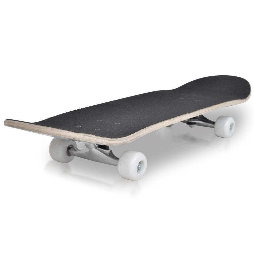 "Oval Shape Skateboard 9 Ply Maple Spider Design 8"""