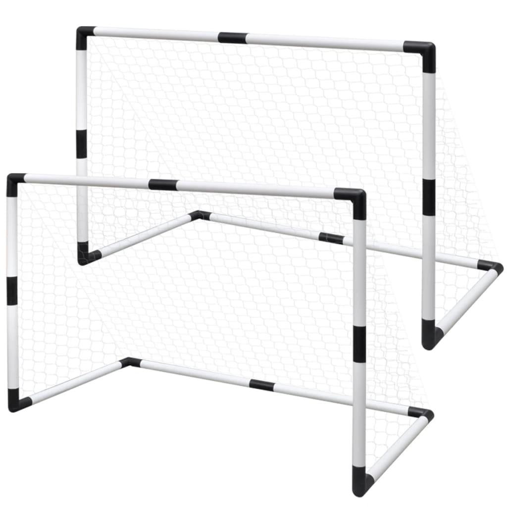 Mini Soccer Goals Post Net Set 2 pcs for Kids 91.5 x 48 x 61 cm