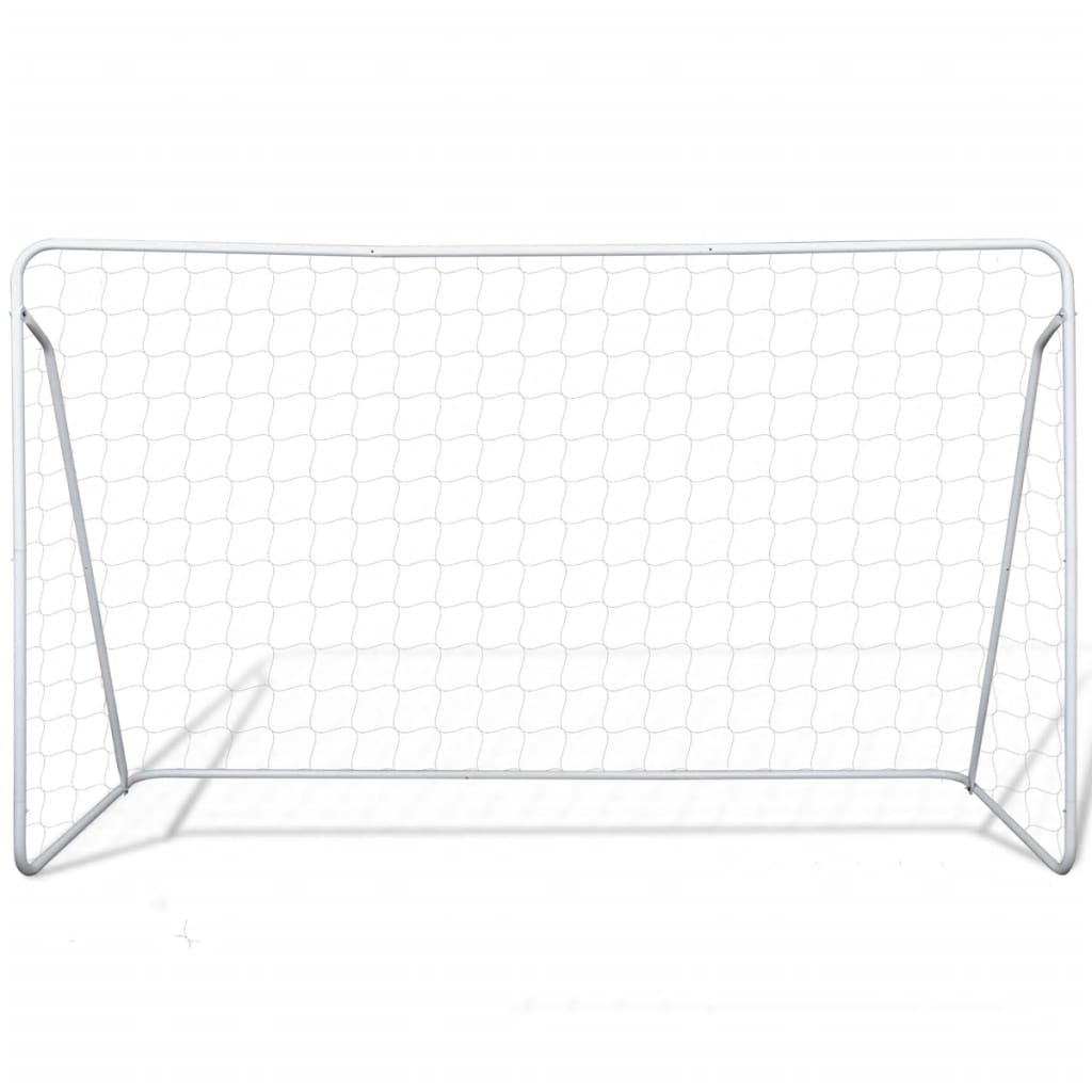 Soccer Goal Post Net Set Steel 240 x 90 x 150 cm High-quality