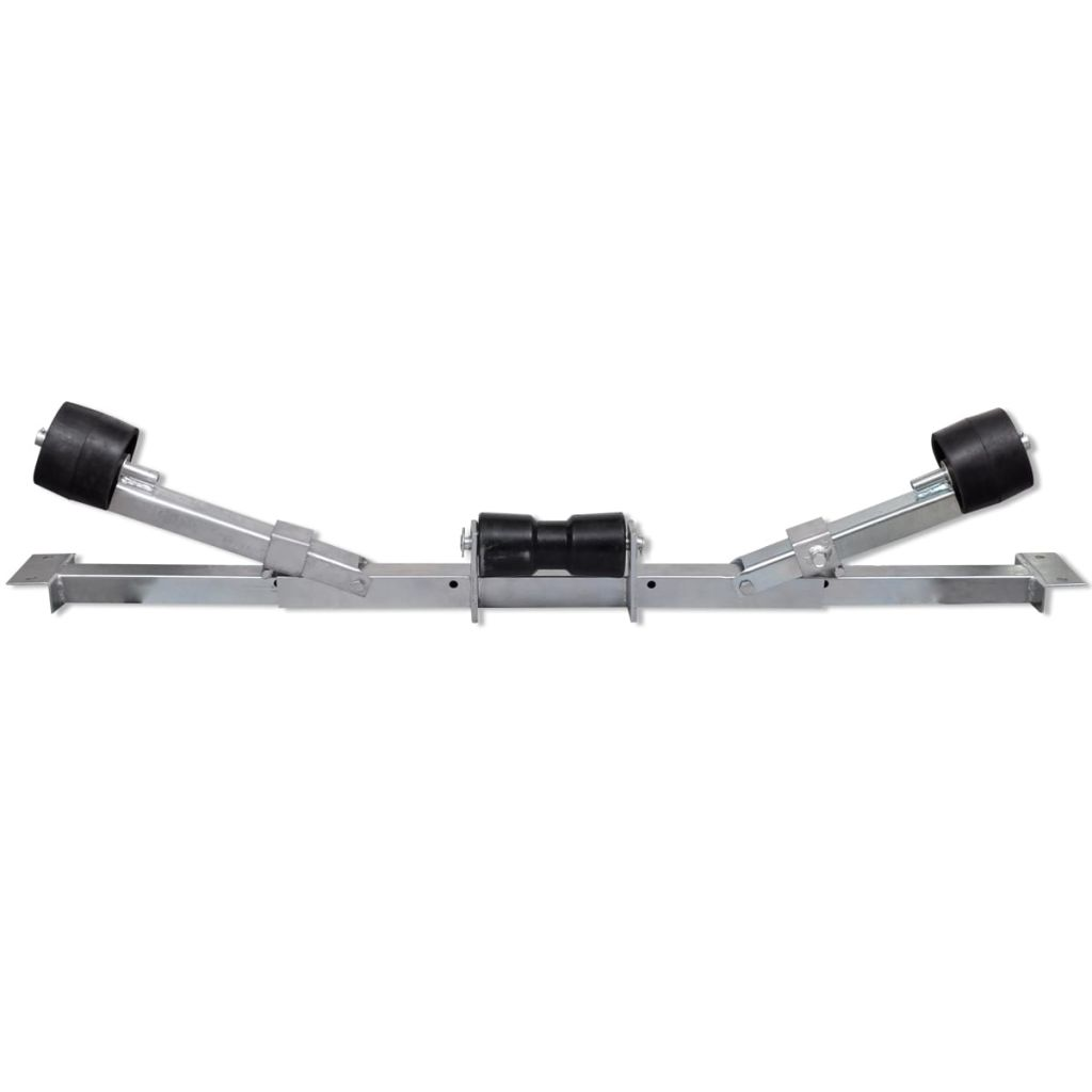 Boat Trailer Bottom Support Bracket with Keel Rollers