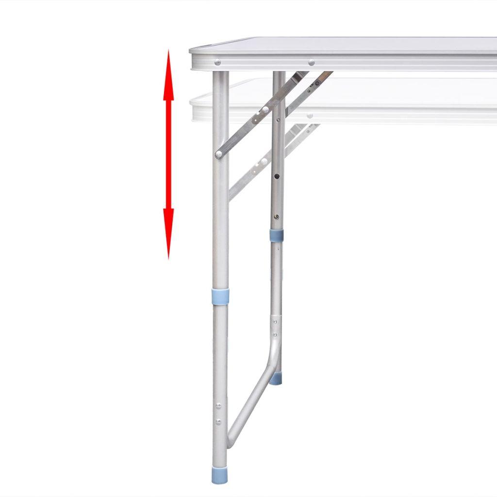 Foldable Camping Table Aluminium 120 x 60 cm