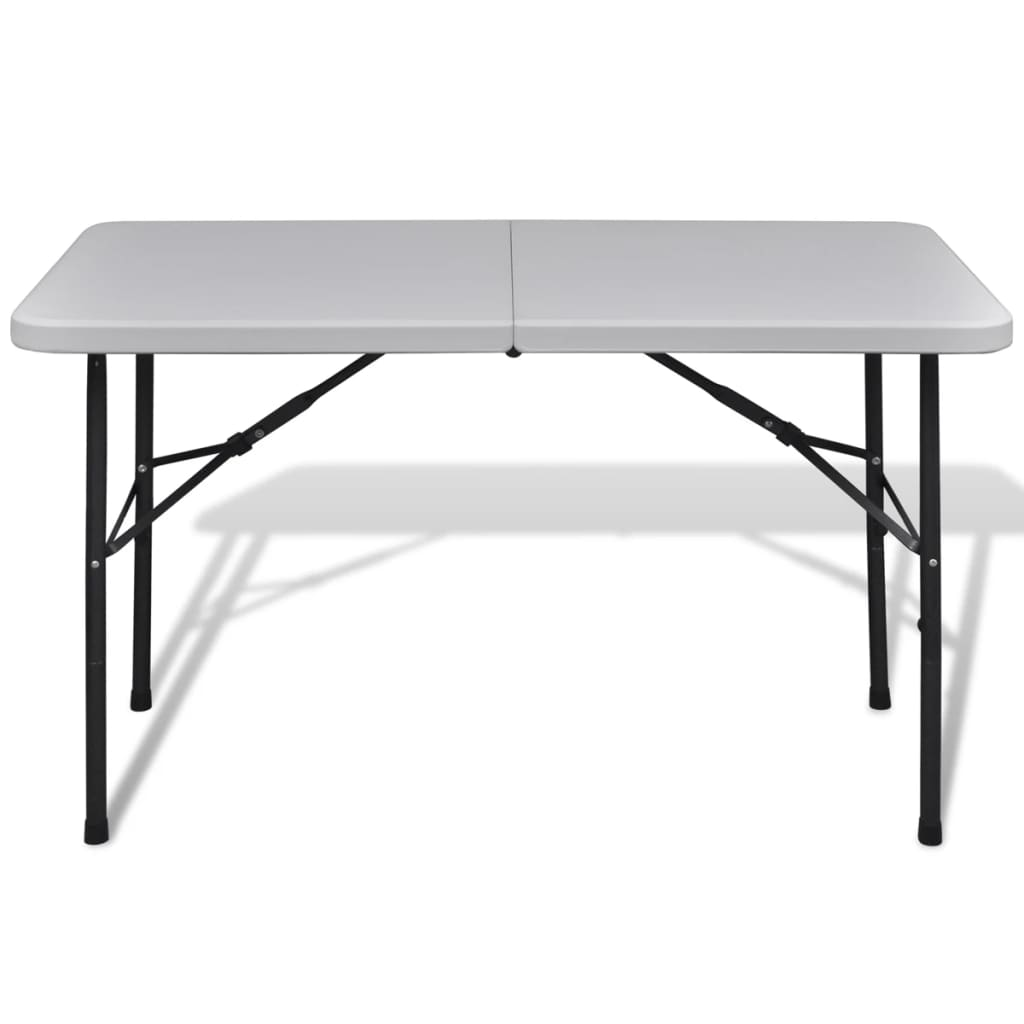 Foldable Garden Table 122 cm HDPE White