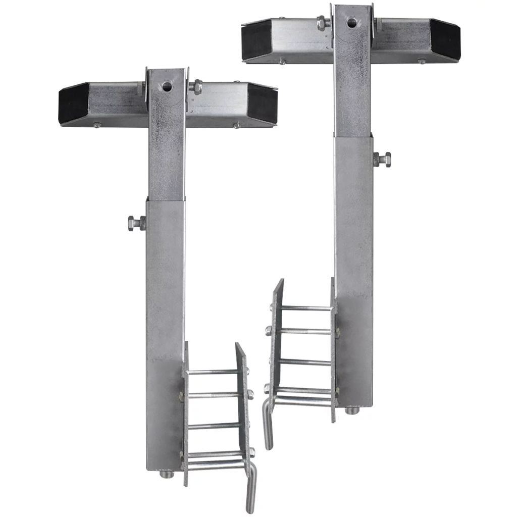 Boat Trailer Solid Bar Bow Support Set of 2 63 - 88 cm