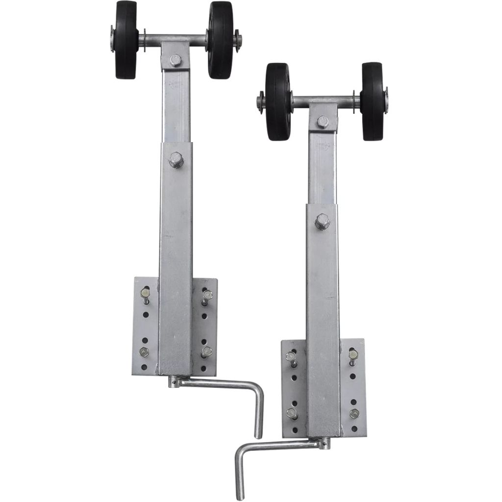 Boat Trailer Double Roller Bow Support Set of 2 59-84 cm