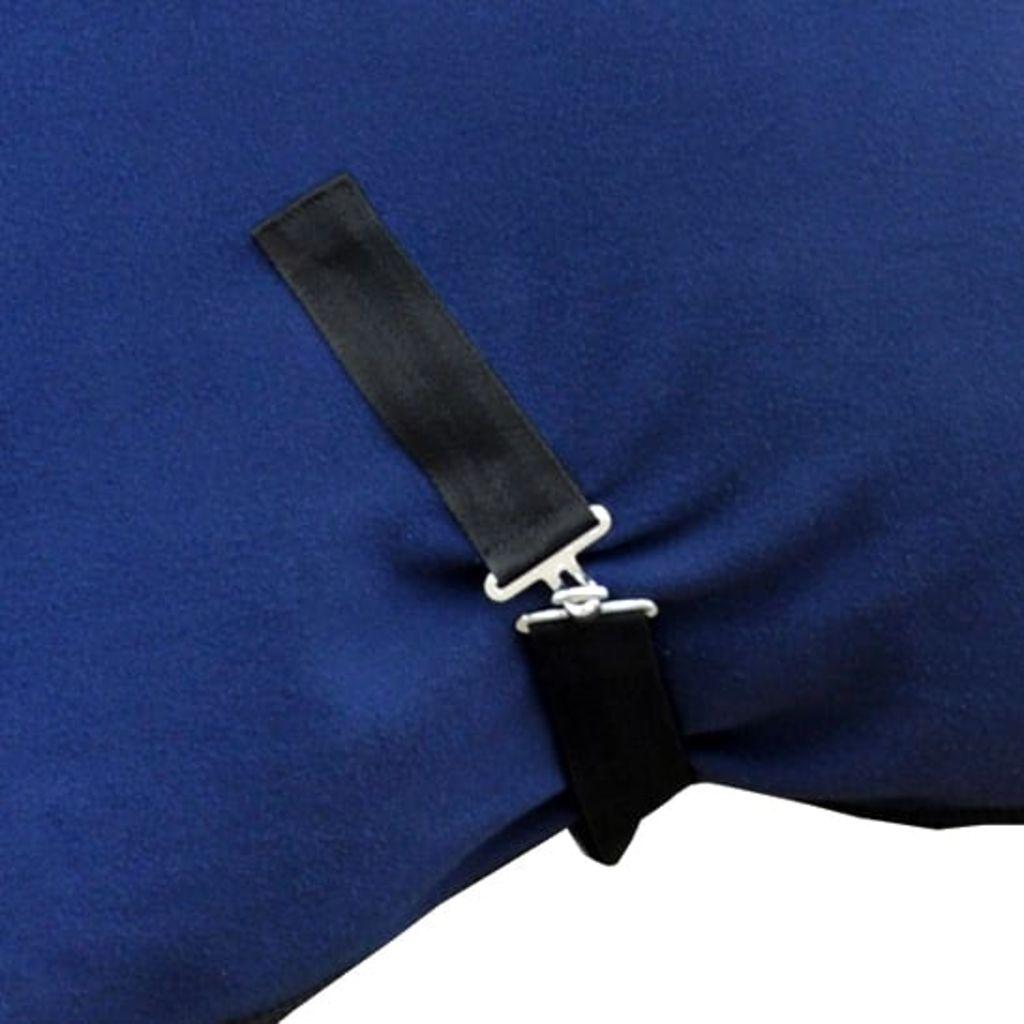 Fleece Rug with Surcingles 145 cm Blue
