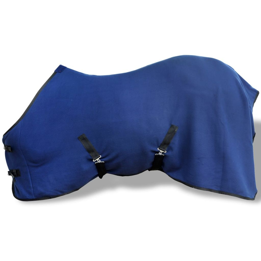 Fleece Rug with Surcingles 165 cm Blue