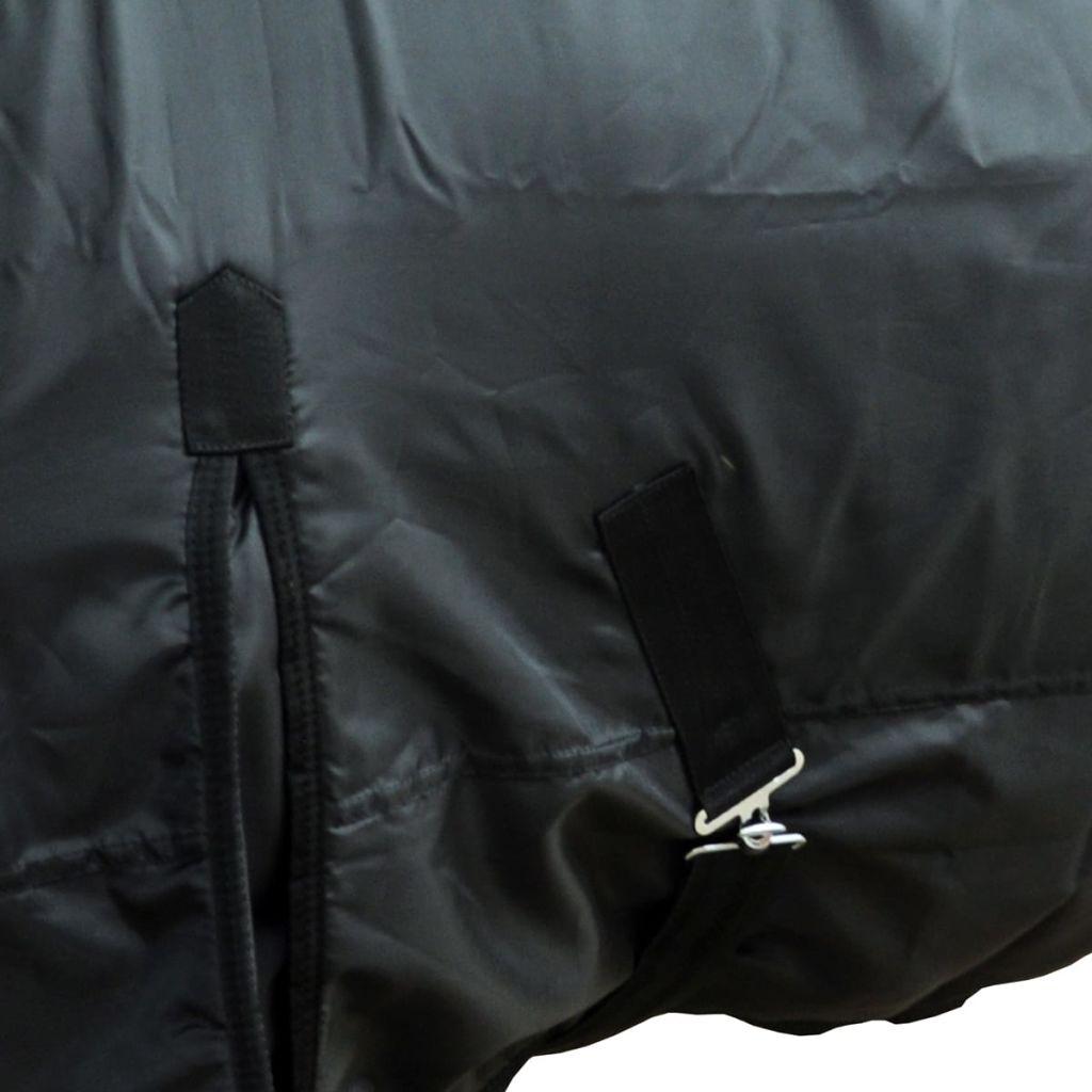 Fleece Rug Double Layers with Surcingles 125 cm Black
