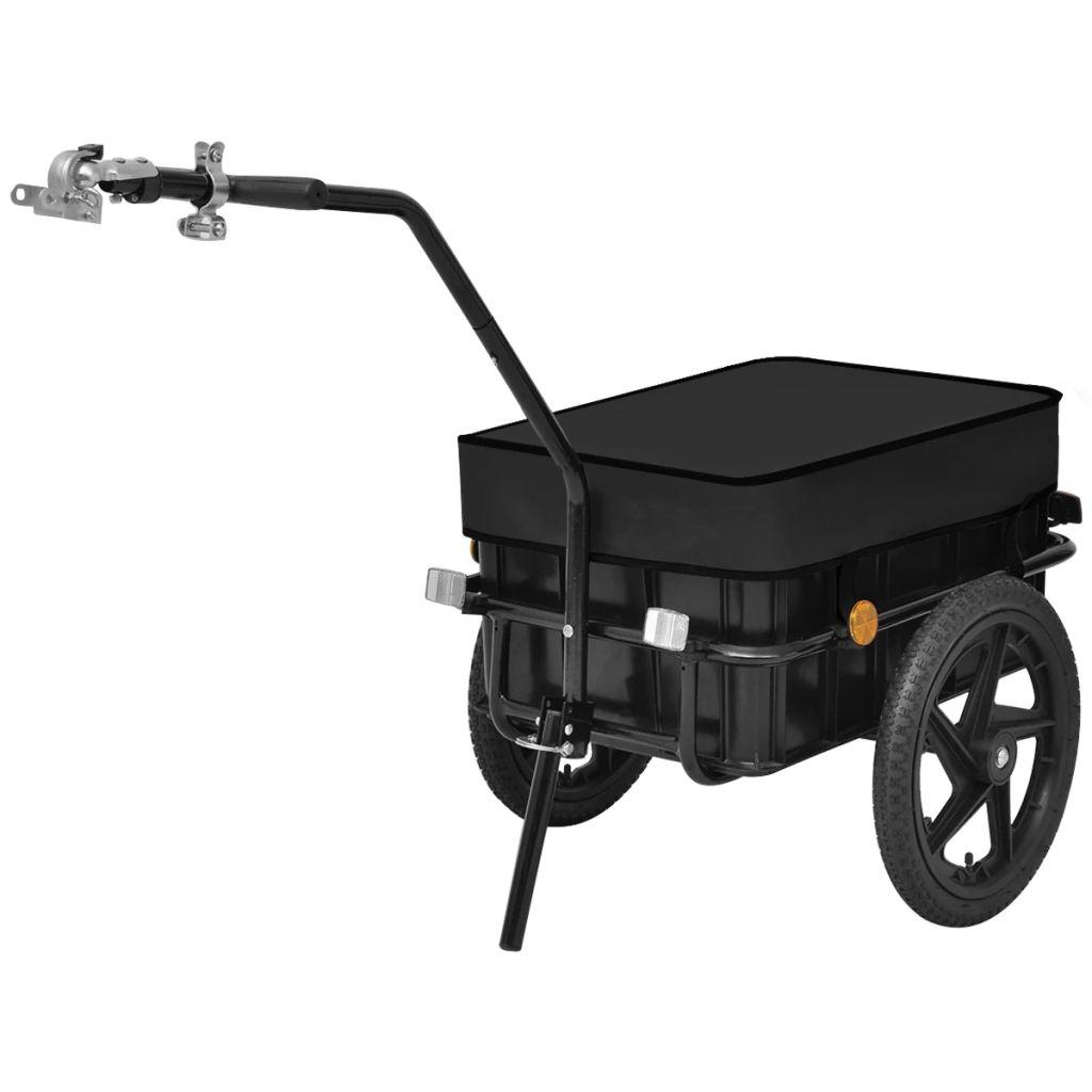 Bike Cargo Trailer/Hand Wagon Black 70 L