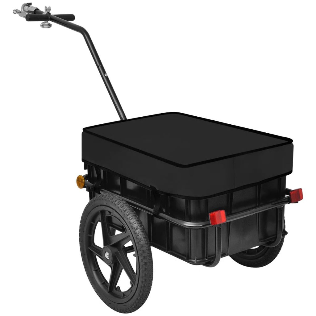 Bike Cargo Trailer/Hand Wagon Black 70 L