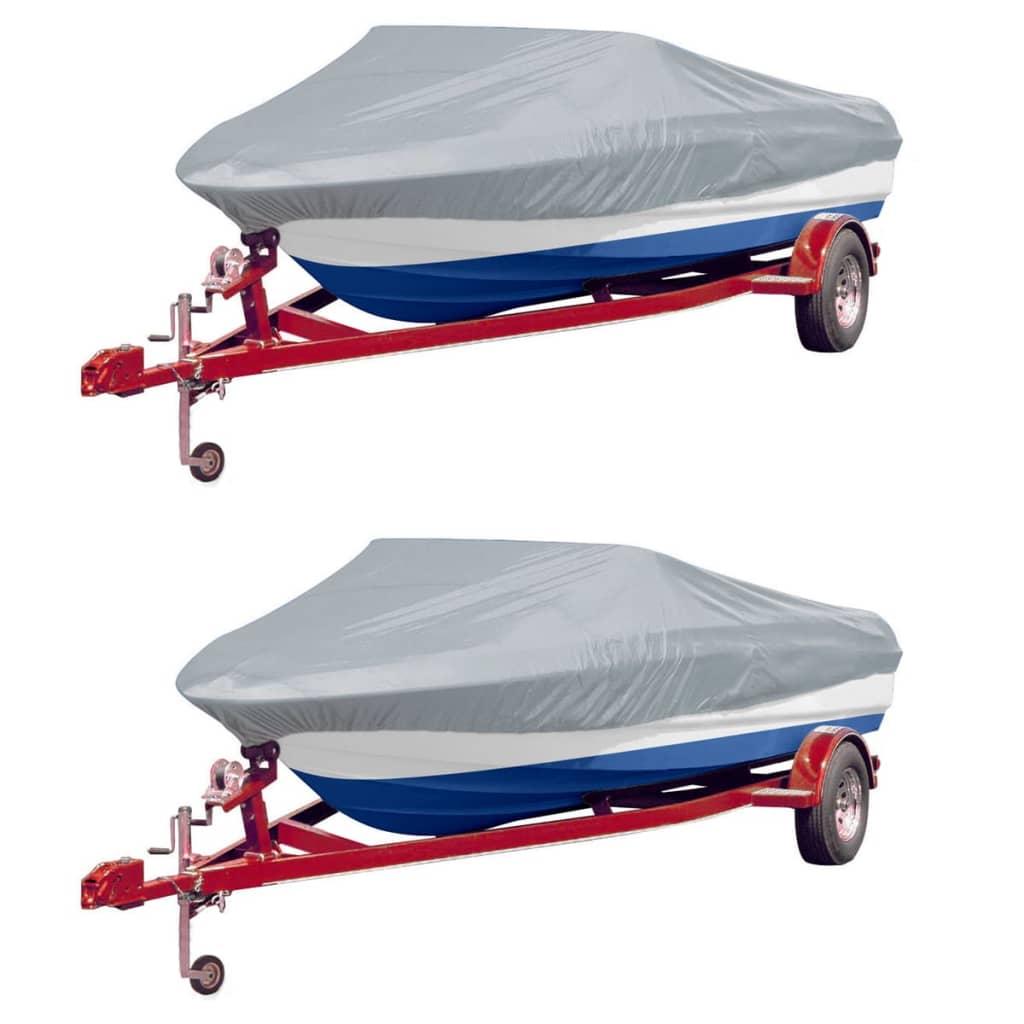 Boat Covers 2 pcs Grey Length 610-671 cm Width 254 cm