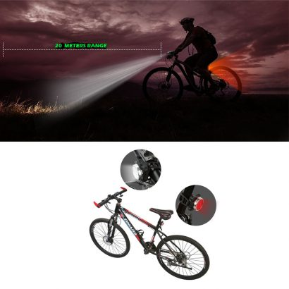 Waterproof Bicycle Bike Lights Front Rear Tail Light Lamp USB Rechargeable IPX4